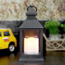 HOFF โคมไฟตะเกียง พร้อมเทียน LED รุ่น 1066 สีดำ