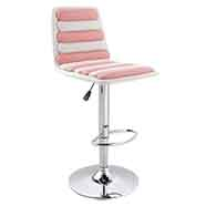 FINEXT เก้าอี้บาร์หนัง รุ่น ET9030 สีชมพู
