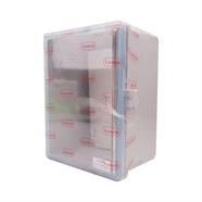 ตู้พลาสติกกันน้ำ ฝาใส 6x8 นิ้ว สีเทา LEETECH
